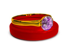 Ring with a jewel Royalty Free Stock Photo