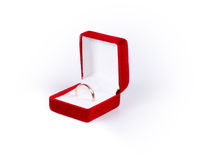 Ring in a jewelry box Royalty Free Stock Images