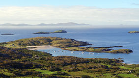 Ring of Kerry, Ireland. Elevated view from the Ring of Kerry, Ireland Royalty Free Stock Photos