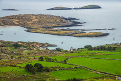 Ring of Kerry landscape. Beautiful coastal seascape in County Kerry along the Ring of Kerry, Ireland Stock Photos