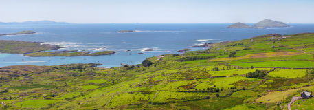 Ring of Kerry panoramic view Stock Photos