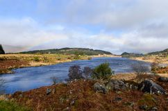 Ring of Kerry rainbow lake Royalty Free Stock Photos