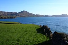 Irish Countryside, Waterville, County Kerry, Ireland. On the Ring of Kerry scenic drive, pretty seaside towns and villages are discovered all along the route Stock Image
