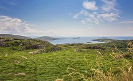 The Ring of Kerry, view to the atlantic ocean stock photos
