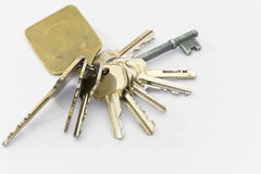 Ring of keys. A ring of keys that are designed to be used for multiple purposes Royalty Free Stock Photography