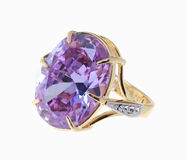 Ring with large crystal Royalty Free Stock Photos