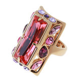 Ring with large crystal Royalty Free Stock Image