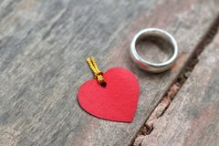Ring and love Royalty Free Stock Photos