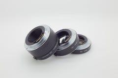 Ring Macro Extensions-Rohr an benutzt für Makrophotographie Lizenzfreie Stockfotos