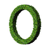 Ring made from green leaves isolated on white background. 3d render. Royalty Free Stock Photography