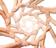 Ring of many hands Royalty Free Stock Photography