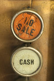 Ring Me Out. Antique cash register keys No Sale or Cash transaction register keys stock image