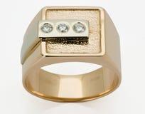 Ring met de diamanten stock afbeelding