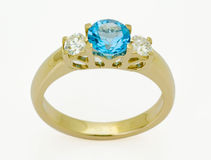 Ring met de diamanten Stock Fotografie