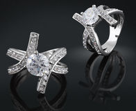 Ring met diamant royalty-vrije stock afbeeldingen