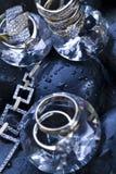 Ring met diamanten Royalty-vrije Stock Afbeelding