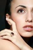 Ring met een juweel Royalty-vrije Stock Afbeeldingen