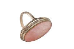 Ring met gem Royalty-vrije Stock Afbeelding