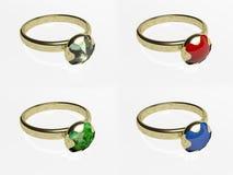 Ring mit einem Juwel Lizenzfreie Stockbilder