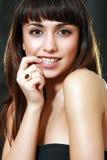 Ring mit einem Juwel lizenzfreies stockbild
