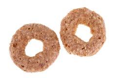 Ring mit zwei Schokoladengetreide Stockfotografie