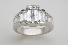 Ring with Multiple Diamonds Stock Photos
