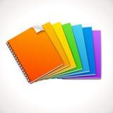Ring Notebooks Rainbow espiral Imagem de Stock