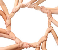 Free Ring Of Hands Team Royalty Free Stock Photography - 21893007