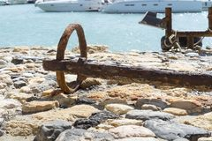 Ring from the old rusty anchor. Royalty Free Stock Photo