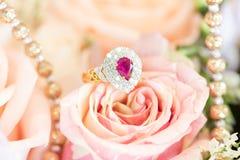 Free Ring On Rose Stock Photos - 50297733