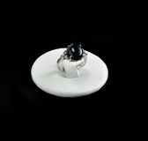 Ring with onyx stone backing Royalty Free Stock Image