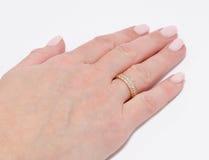 Ring op een vinger Royalty-vrije Stock Fotografie