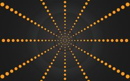 Ring of Orange Dots, Graphic Design - Wallpaper. Ring of Orange Points Background Illustration Royalty Free Stock Photos