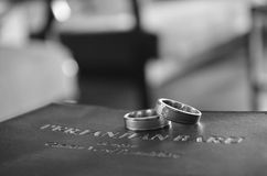 Ring Over a Bible Royalty Free Stock Photos
