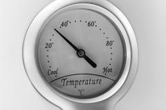 Ring på en termostat från kallt till varmt Royaltyfri Foto