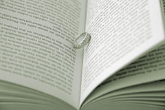 Ring on page of book Stock Photo