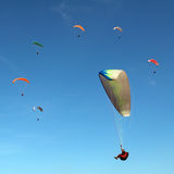Ring of the paragliders Royalty Free Stock Photos