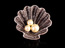Ring with Pearls Stock Image