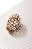 Ring with pearls Royalty Free Stock Photo