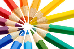 Ring of pencils Royalty Free Stock Photography