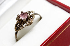 Ring with pink stone Stock Photo