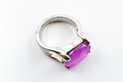 Ring with pink stone Royalty Free Stock Photography