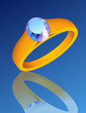 Ring_with_precious_stone Stockbild