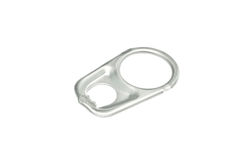 Ring pull aluminum of can, Aluminum Pop Tops Stock Image