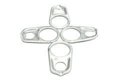 Ring pull aluminum of can, Aluminum Pop Tops on wh Royalty Free Stock Photography