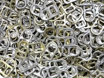 Ring pull background. Shot of many ring pulls for background Stock Photography