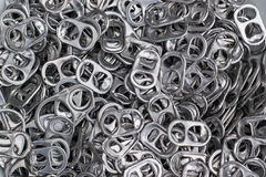 Ring pull of can lid aluminium Royalty Free Stock Photo