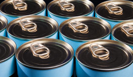 Ring Pull Cans. Close up of many ring pull cans royalty free stock photography