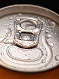 Ring pull with moisture. Ring pull on a can with moisture droplets royalty free stock photos