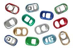 Ring-pulls. Stock Photos